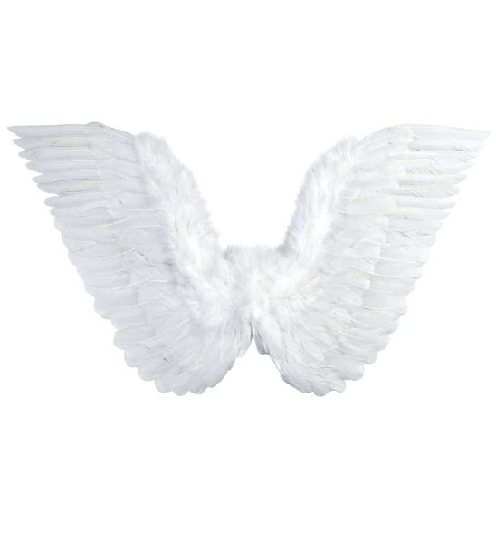 White Feathered Wings 86cm x 31cm Christmas Fancy Dress